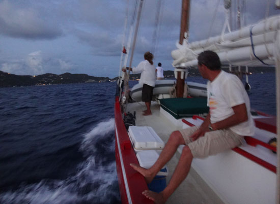 arriving in gustavia
