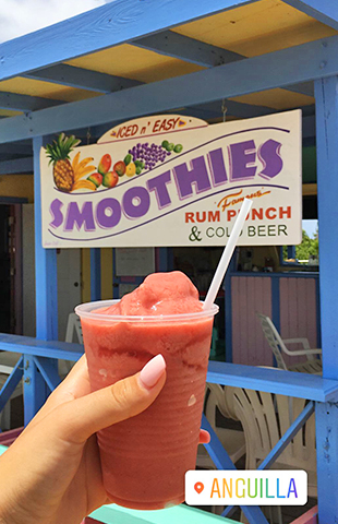 Smoothie from sea spray