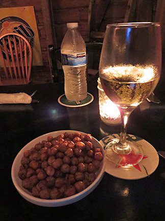 wine and chickpeas at pumphouse anguilla