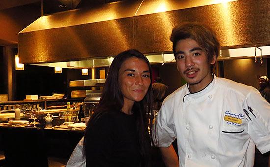 with chef yuki at tokyo bay
