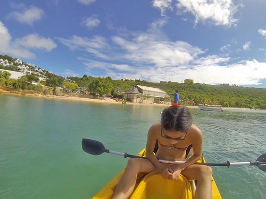 yuki using anguilla watersports kayaks observation decks