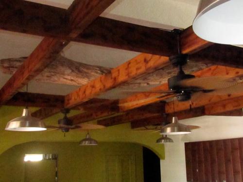 yumyum driftwood ceiling