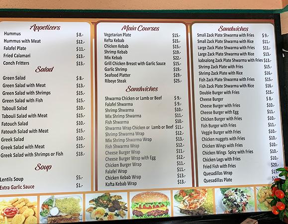 zack menu