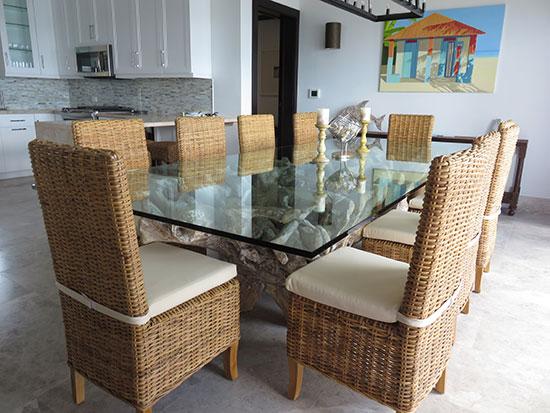 dining area inside the zemi suite