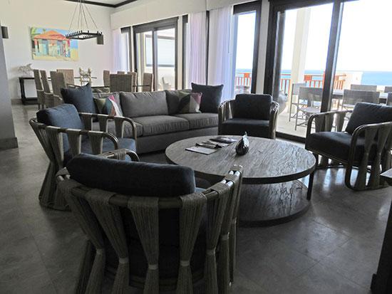 living area inside the zemi suite