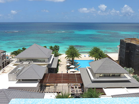 the view from the zemi suite pool