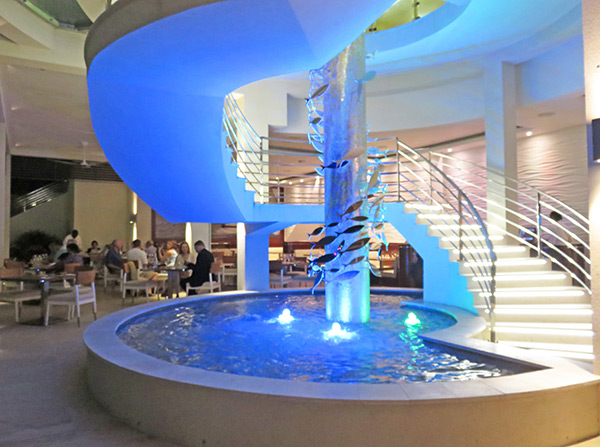 the yacht club fountain in anguilla