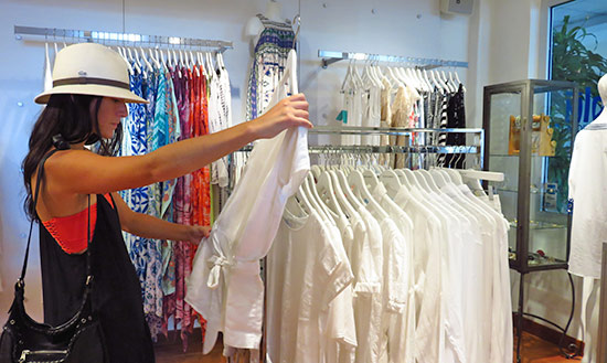 yuki shopping at blu boutique