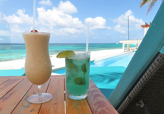 drink with a view at zemi beach house