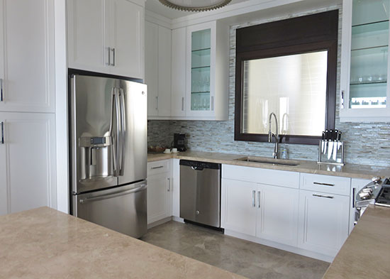 kitchen inside the zemi suite