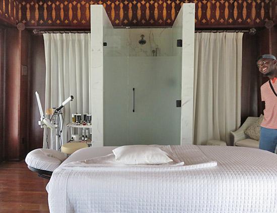treatment room at zemi thai house spa
