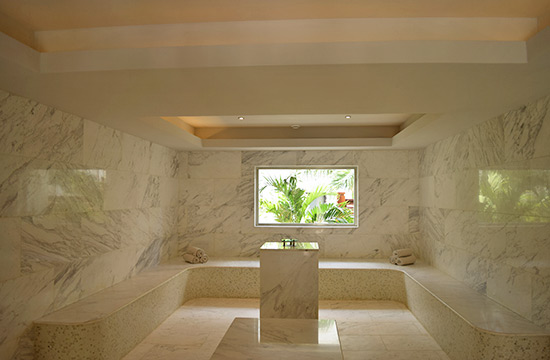 turkish bath house at zemi beach house