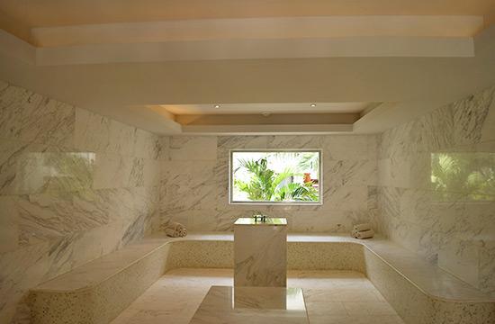 turkish bath house at zemi beach house