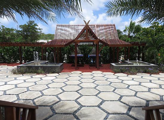 yoga floor at zemi beach house