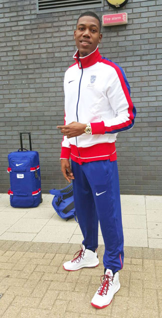 zharnel hughes representing anguilla and great britain