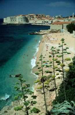 Banje beach, Dubrovnik is a famous Croatian hotspot