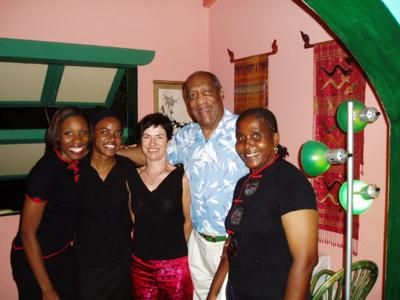 Bill Cosby Dining at Hibernia in Anguilla<br>Photo From: news.ai/web/hibernia