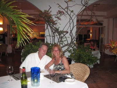 Our last night in Anguilla at Santorini