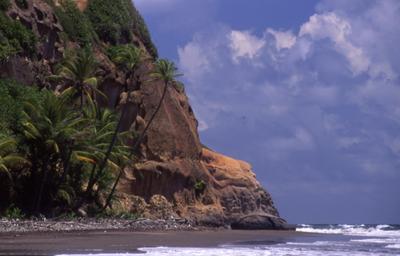 black sand Dominica