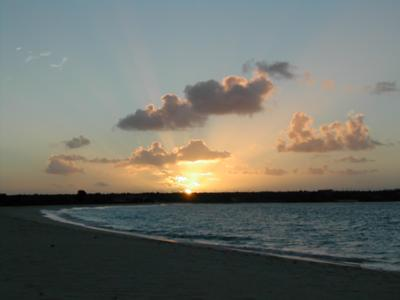 Sunrise on Rendezvous Bay Beach