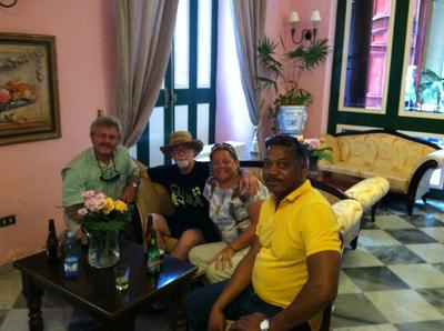 Dale, me, Sally, and our Cuba tour guide.