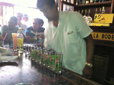 Hemingway's favorite mojito bar