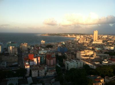 View from our Havana hotel