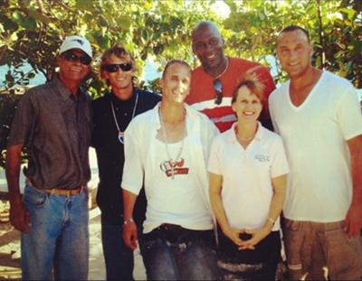 More Athletes in Anguilla:<br>Michael Jordan and Derek Jeter at Scilly Cay<br>Photo From: hipxfms via Instagram