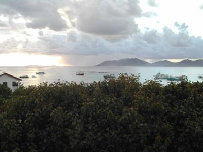 Watching a storm come in over St Maarten