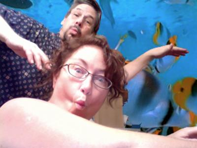 Pretending to snorkel, sans gear