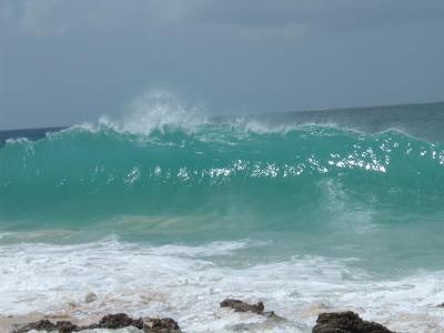 Giant Wave On Limestone Beach, Anguilla