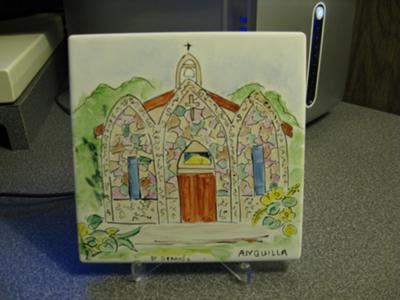 Hand-Painted Ceramic Tile