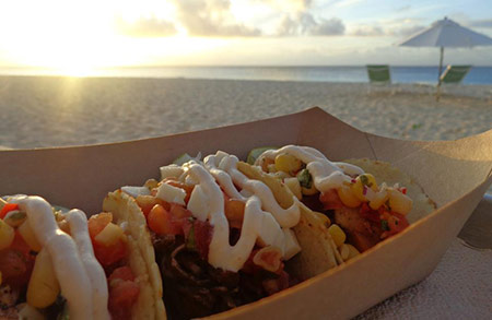 sunset tacos at blanchards beach shack