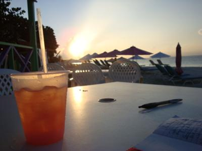 Rum Punch on Shoal Bay at Sundown