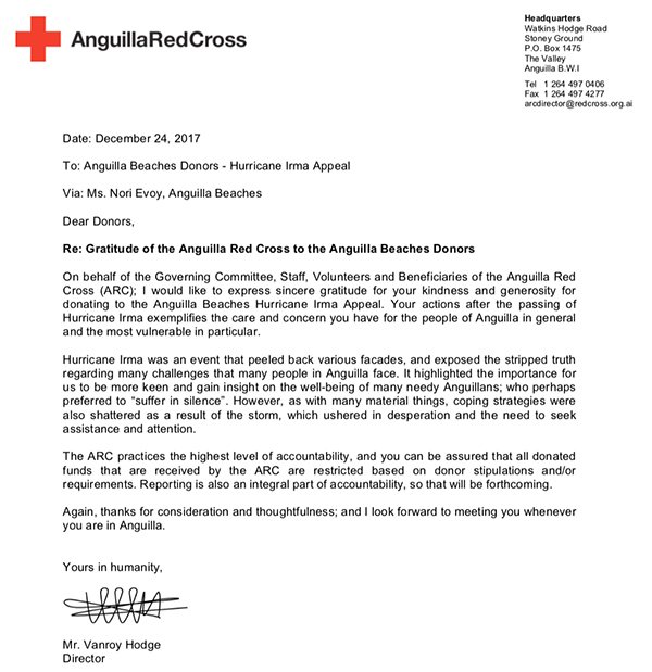 hurricane irma anguilla red cross letter