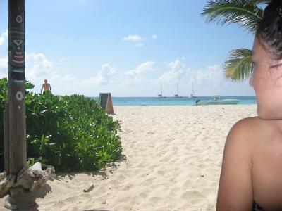 Yuki at Sandy Island Anguilla
