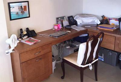 Janice's Home Office Nook in Anguilla
